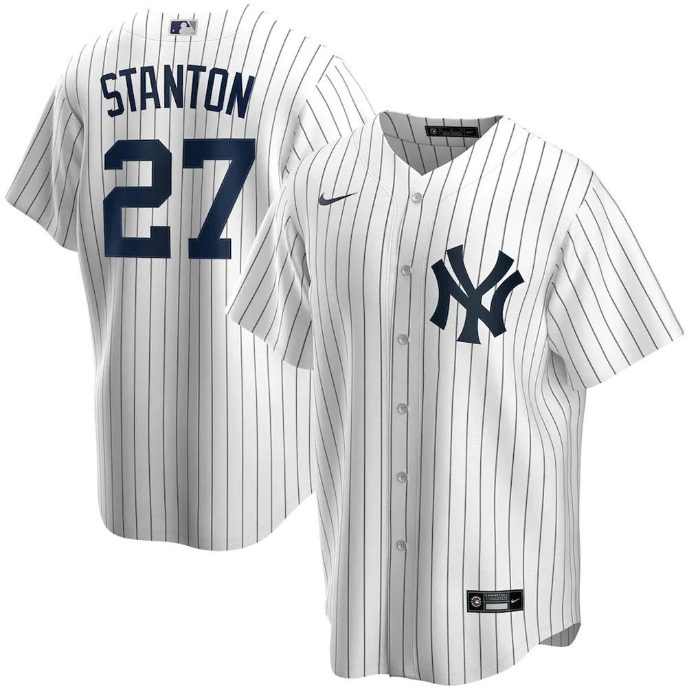 MLB ジャンカルロ・スタントン ニューヨーク・ヤンキース ユニフォーム/ジャージ 2020 レプリカ プレーヤー ナイキ/Nike ホワイト【トレーニング特集】