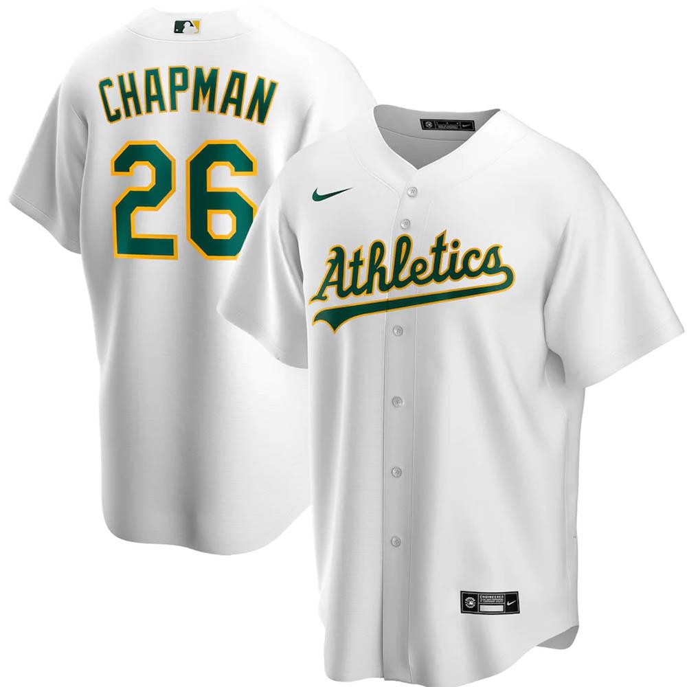 MLB マット・チャップマン オークランド・アスレチックス ユニフォーム/ジャージ 2020 レプリカ プレーヤー ナイキ/Nike ホワイト