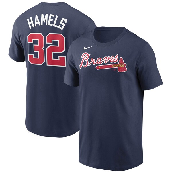 <title>あす楽対応 MLB x Nike ネームナンバー Tシャツ コール ハメルズ アトランタ ブレーブス ネーム ナンバー ナイキ クリアランスsale!期間限定! ネイビー</title>