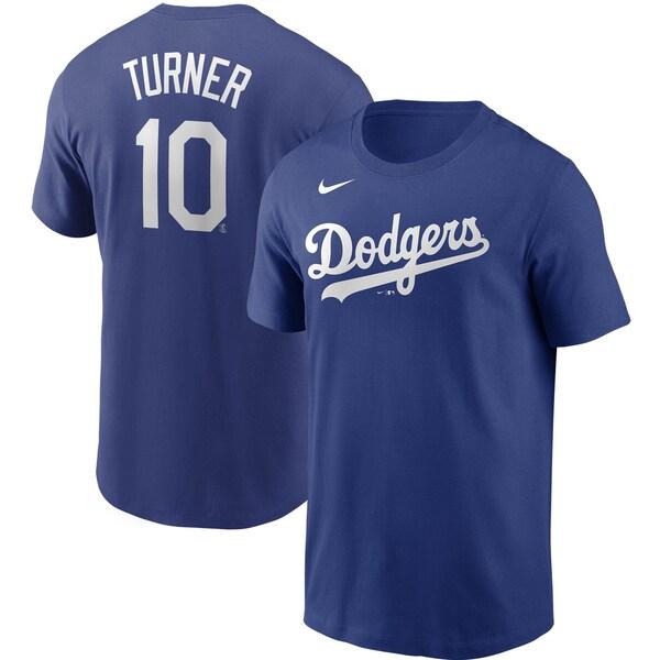 あす楽対応 MLB x まとめ買い特価 特売 Nike ネームナンバー Tシャツ ジャスティン ロサンゼルス ナイキ ターナー ロイヤル ネーム ナンバー ドジャース