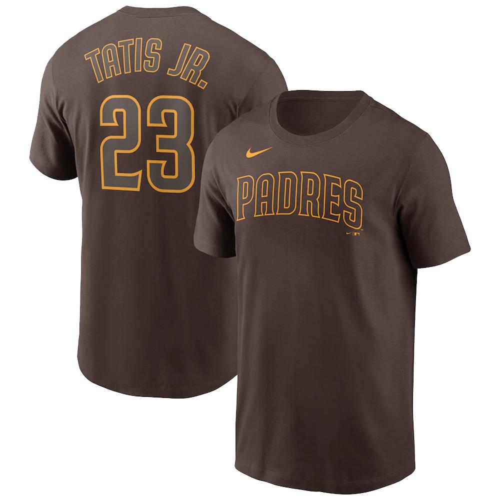 あす楽対応 MLB x Nike ネームナンバー Tシャツ フェルナンド タティス ◆在庫限り◆ 高級品 ナンバー ナイキ ジュニア サンディエゴ ブラウン ネーム パドレス