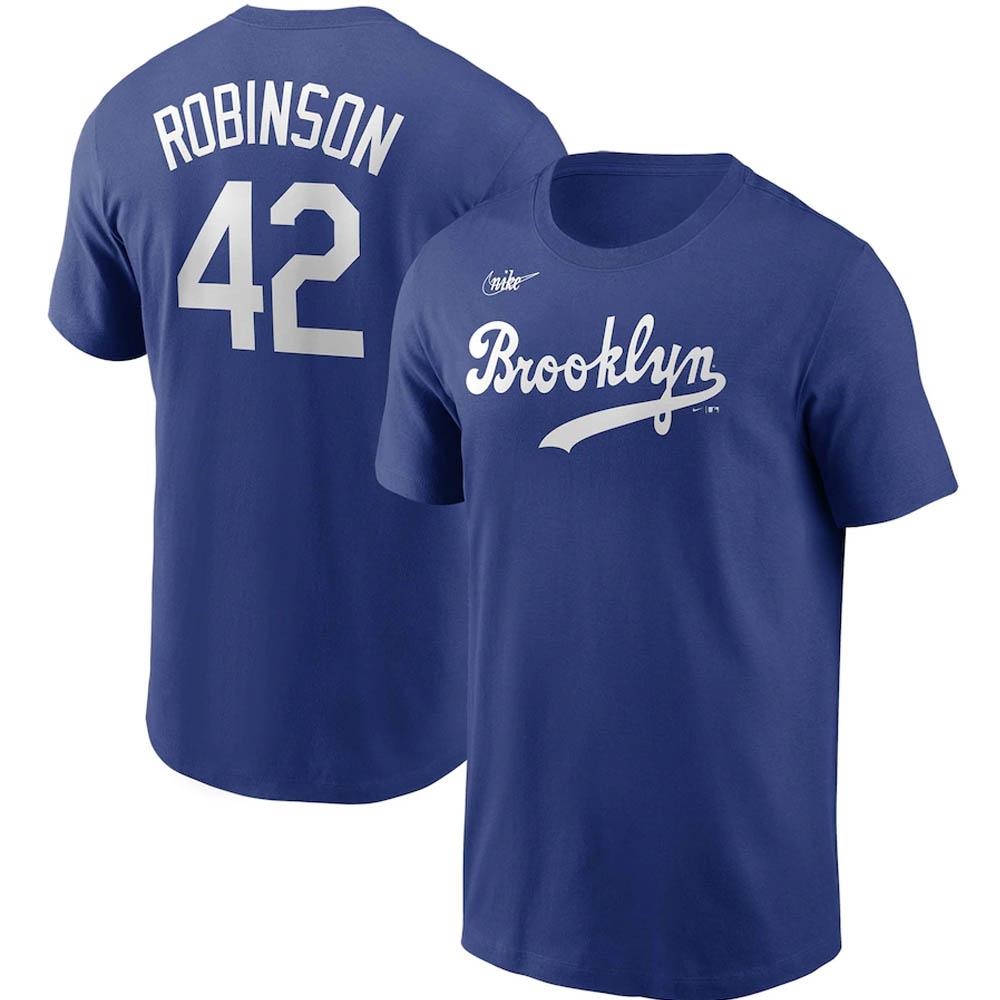 あす楽対応 MLB x Nike レジェンドプレーヤー 市場 Tシャツ ジャッキー ロビンソン ドジャース ナンバー 流行 ネーム ブルックリン ロイヤル ナイキ クーパーズタウン