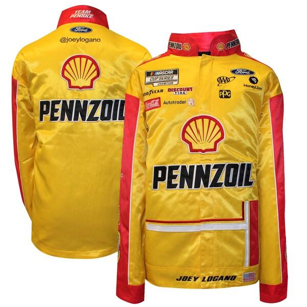 NASCAR ジョーイ・ロガーノ ペンゾイル ジャケット/アウター Full Snap Pit Jacket SMI Properties イエロー