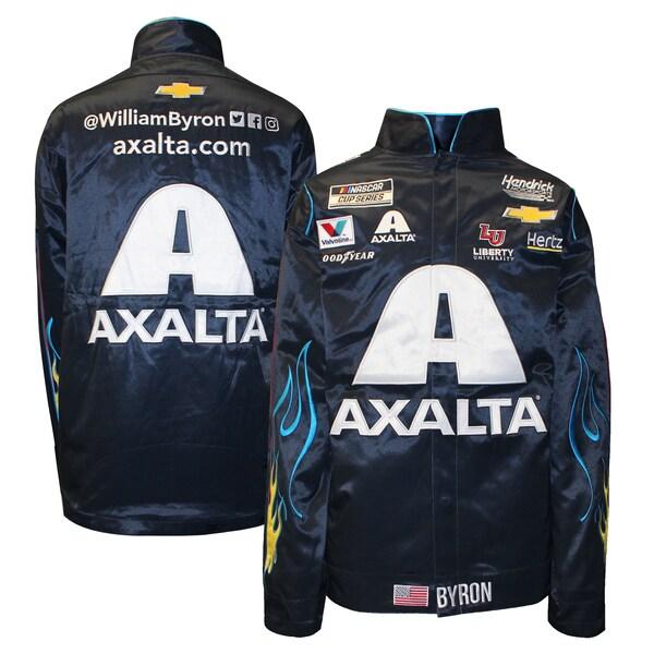 NASCAR ウィリアム・バイロン アクサルタ ジャケット/アウター Full Snap Pit Jacket Hendrick Motorsports ネイビー