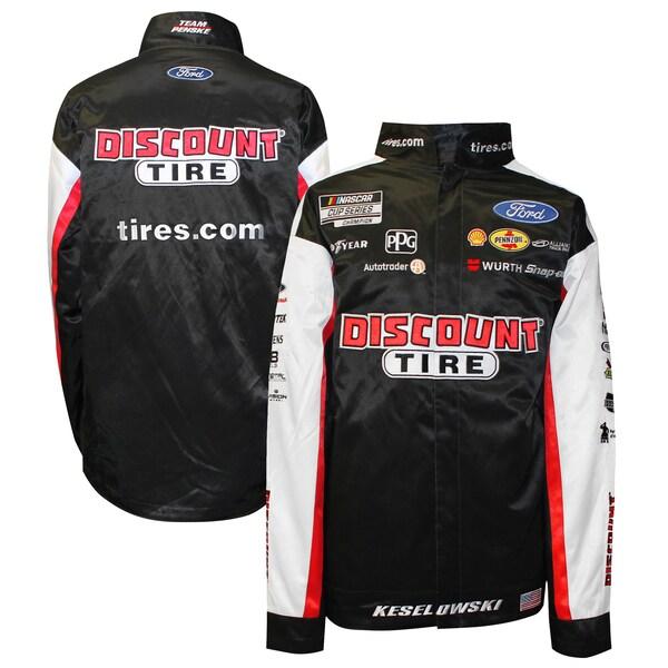 NASCAR ブラッド・ケセロウスキー ディスカウント タイヤ ジャケット/アウター Full-Snap Pit Jacket SMI Properties ブラック