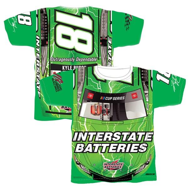 NASCAR カイル・ブッシュ Tシャツ Sublimated Car Wrap T-Shirt SMI Properties グリーン