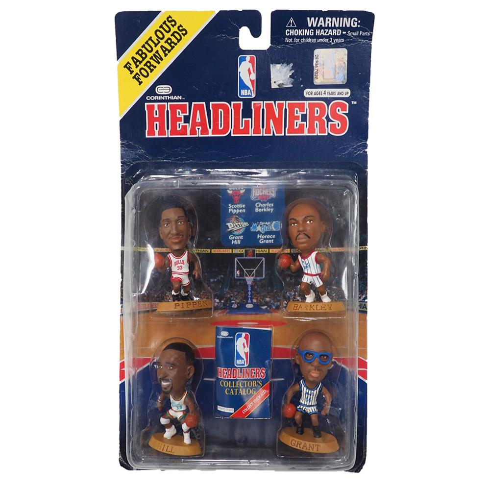 NBA フィギュア Headliners 1996 Edition NIB (4 Player Pack) Corinthian