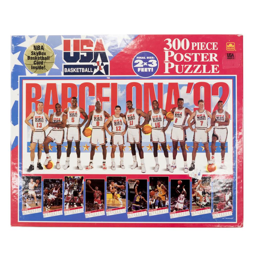USA BB USA Basketball 1992 Dream Team ジグソーパズル Golden