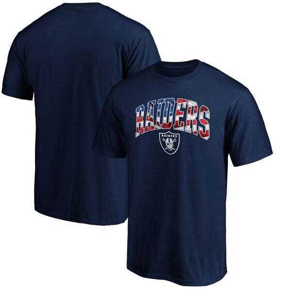 NFL レイダース Tシャツ バナー ウェーブ ネイビー