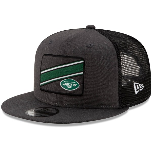 NFL ジェッツ キャップ/帽子 トラッカー ストライプ 9FIFTY アジャスタブル ニューエラ/New Era ブラック