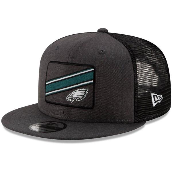 NFL イーグルス キャップ/帽子 トラッカー ストライプ 9FIFTY アジャスタブル ニューエラ/New Era ブラック