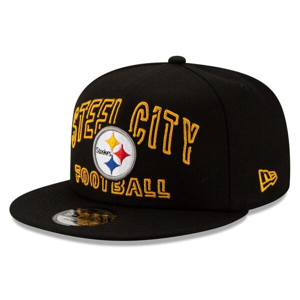 NFL スティーラーズ キャップ/帽子 2020 NFL ドラフト シティ 9FIFTY アジャスタブル ニューエラ/New Era ブラック