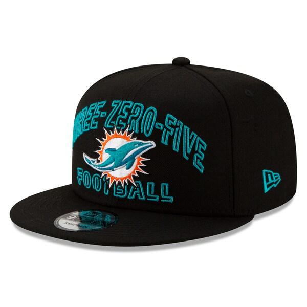 NFL ドルフィンズ キャップ/帽子 2020 NFL ドラフト シティ 9FIFTY アジャスタブル ニューエラ/New Era ブラック
