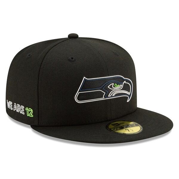 NFL シーホークス キャップ/帽子 2020 NFL ドラフト オフィシャル 59FIFTY ニューエラ/New Era ブラック
