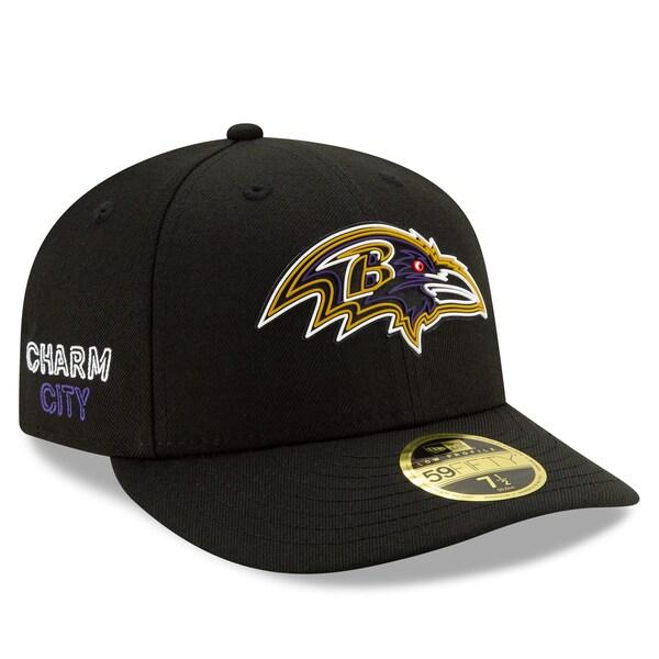 NFL レイブンズ キャップ/帽子 2020 NFL ドラフト オフィシャル ロープロファイル 59FIFTY ニューエラ/New Era ブラック