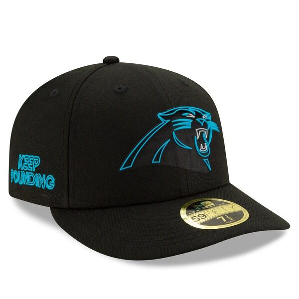 NFL パンサーズ キャップ/帽子 2020 NFL ドラフト オフィシャル ロープロファイル 59FIFTY ニューエラ/New Era ブラック