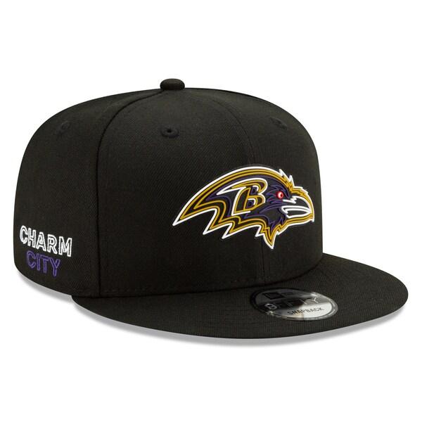 NFL レイブンズ キャップ/帽子 2020 NFL ドラフト オフィシャル 9FIFTY アジャスタブル ニューエラ/New Era ブラック