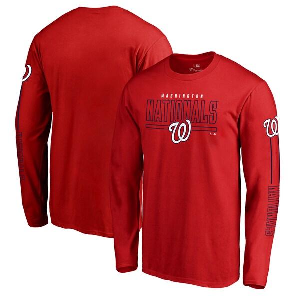 MLB ワシントン・ナショナルズ Tシャツ チーム フロントライン ロングスリーブ レッド