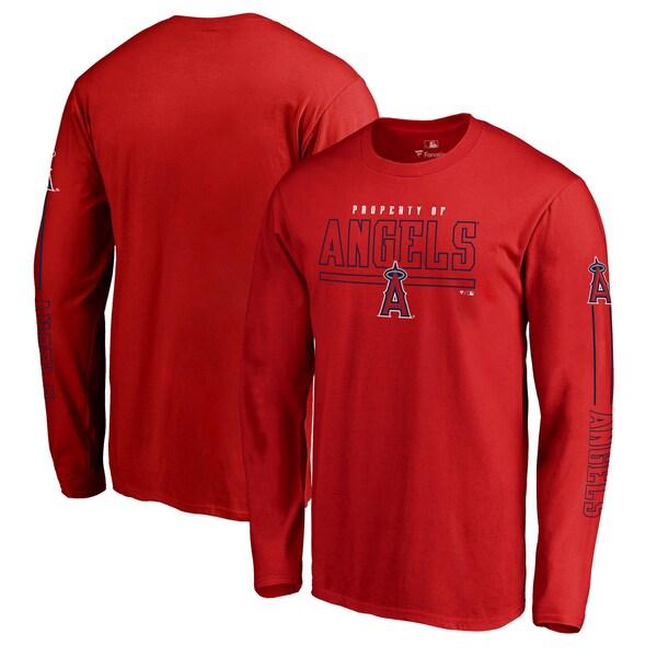 MLB ロサンゼルス・エンゼルス Tシャツ チーム フロントライン ロングスリーブ レッド