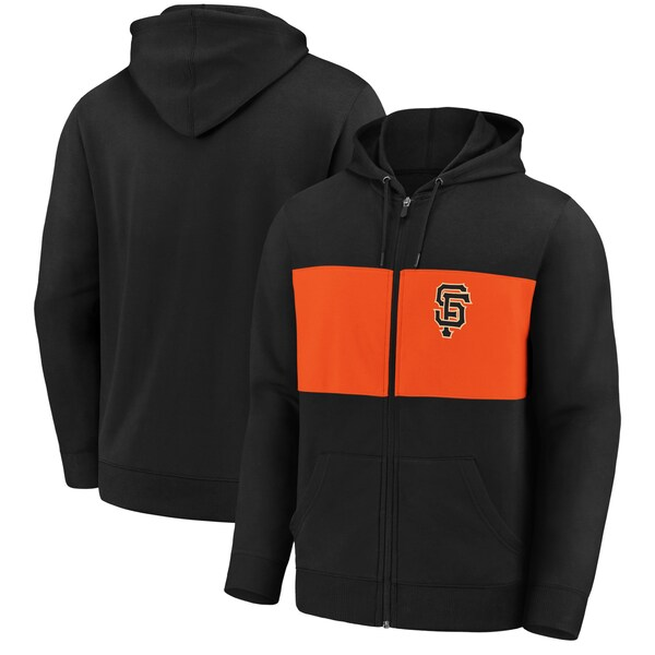 MLB サンフランシスコ・ジャイアンツ パーカー/フーディー チーム ツイル フルジップ フーディー ジャケット ブラック