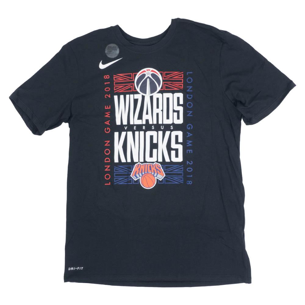 NBA ニックス/ウィザーズ Tシャツ 2018 ロンドン ゲーム ニックスvsウィザーズ ナイキ/Nike ブラック【トレーニング特集】