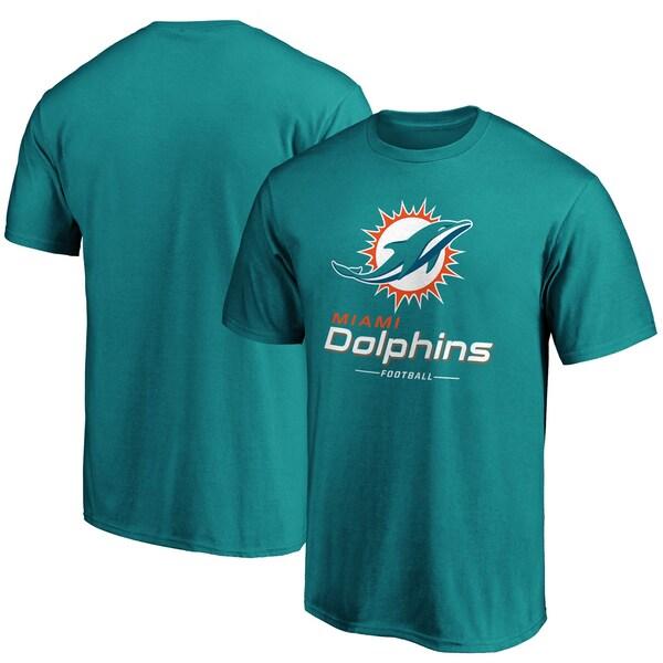 NFL ドルフィンズ Tシャツ チーム ロックアップ ロゴ アクア