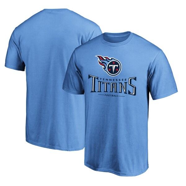 NFL タイタンズ Tシャツ チーム ロックアップ ロゴ ライトブルー