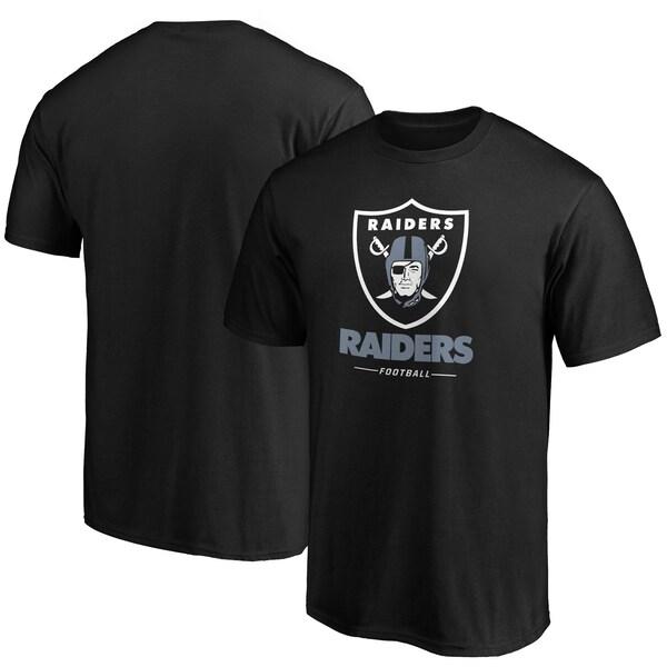 NFL レイダース Tシャツ チーム ロックアップ ロゴ ブラック