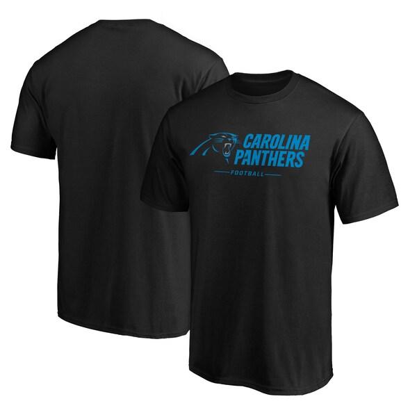 NFL パンサーズ Tシャツ チーム ロックアップ ロゴ ブラック