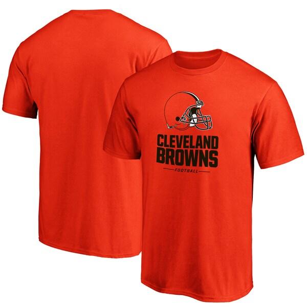 NFL ブラウンズ Tシャツ チーム ロックアップ ロゴ オレンジ