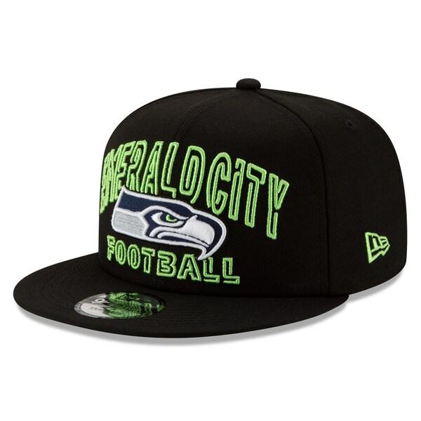 NFL シーホークス キャップ/帽子 2020 NFL ドラフト シティ 9FIFTY アジャスタブル ニューエラ/New Era ブラック