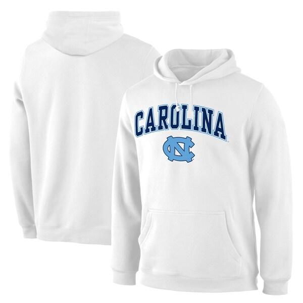 NCAA ノースカロライナ大学 ターヒールズ パーカー/フーディー キャンパス プルオーバー ホワイト