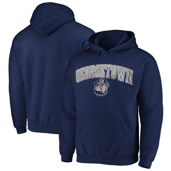 NCAA ジョージタウン大学 ホヤズ パーカー/フーディー キャンパス プルオーバー ネイビー