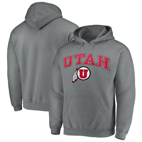 NCAA ユタ大学 ユーツ パーカー/フーディー キャンパス プルオーバー チャコール