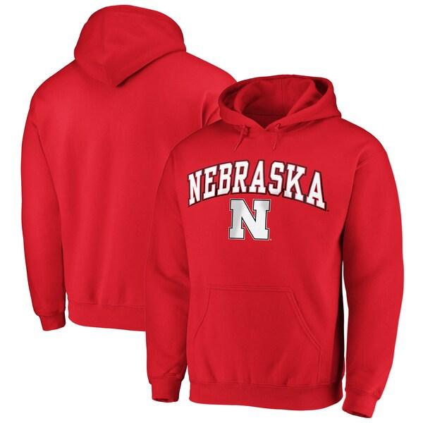 NCAA ネブラスカ大学 コーンハスカーズ パーカー/フーディー キャンパス プルオーバー スカーレット