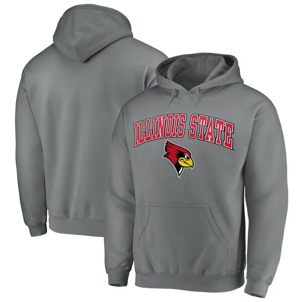 NCAA イリノイ州立大学 レッドバーズ パーカー/フーディー キャンパス プルオーバー チャコール