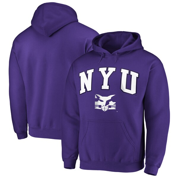 NCAA ニューヨーク大学 バイオレッツ パーカー/フーディー キャンパス プルオーバー パープル