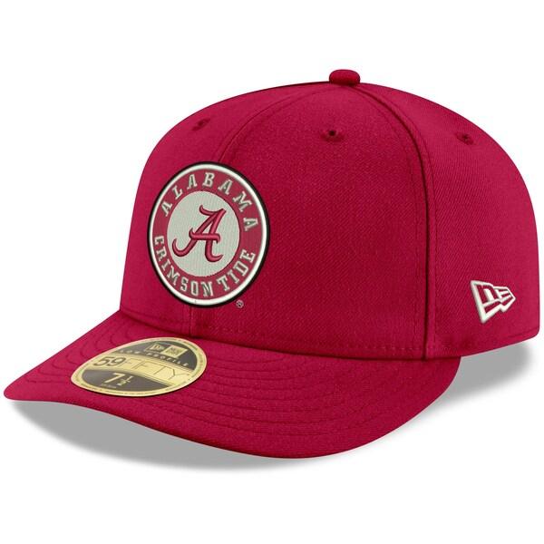 NCAA アラバマ大学 クリムゾンタイド キャップ/帽子 ベーシック ロープロファイル 59FIFTY ニューエラ/New Era クリムゾン