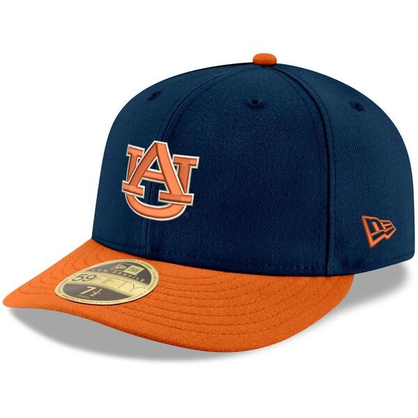 NCAA オーバーン大学 タイガース キャップ/帽子 ベーシック ロープロファイル 59FIFTY ニューエラ/New Era ネイビー/オレンジ