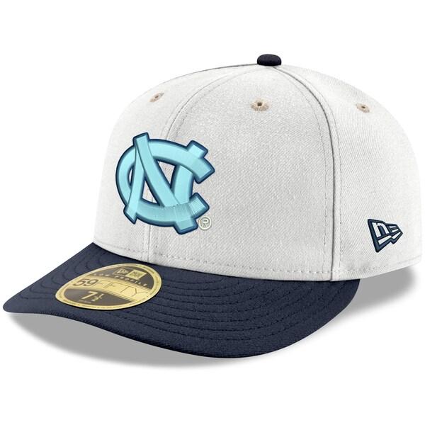 NCAA ノースカロライナ大学 ターヒールズ キャップ/帽子 ベーシック ロープロファイル 59FIFTY ニューエラ/New Era ホワイト/ネイビー