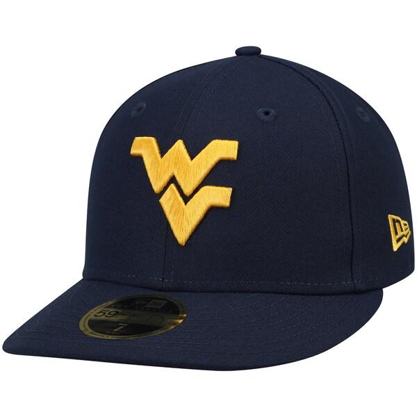 NCAA ウエストバージニア大学 マウンテニアーズ キャップ/帽子 ベーシック ロープロファイル 59FIFTY ニューエラ/New Era ネイビー