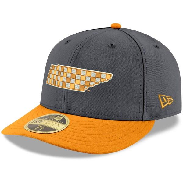 NCAA テネシー大学 ボランティアーズ キャップ/帽子 ベーシック ロープロファイル 59FIFTY ニューエラ/New Era グレー/テネシーオレンジ
