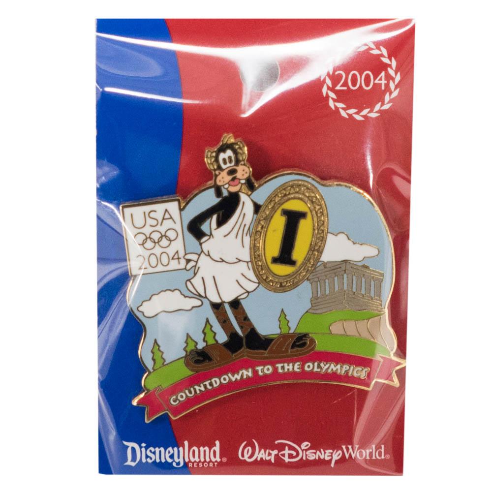 アメリカ代表 ディズニー 2004 アテネ Countdown to the Olympics Pin : 1 (Goofy) LE750 ピンバッチ ピンズ Disney