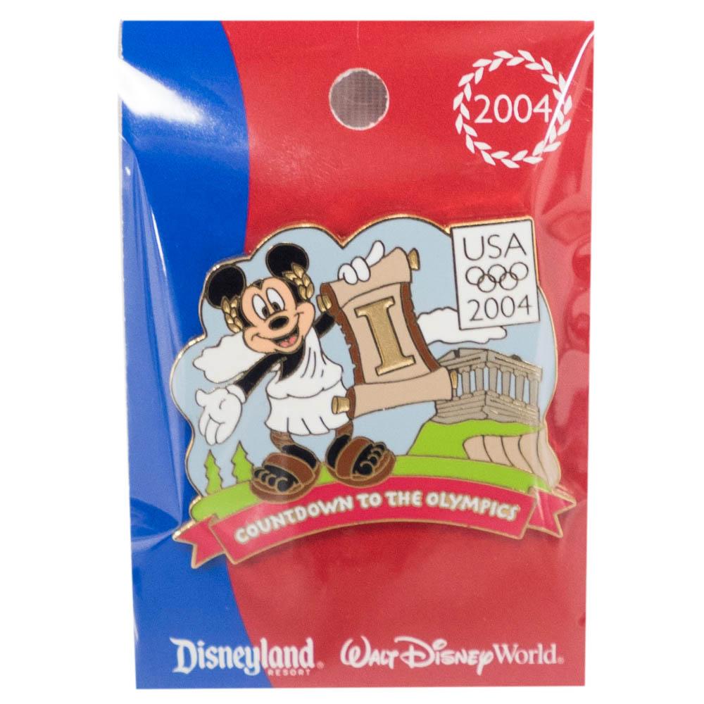 アメリカ代表 ディズニー 2004 アテネ Countdown to the Olympics Pin : 1 (Mickey Mouse) LE750 ピンバッチ ピンズ Disney