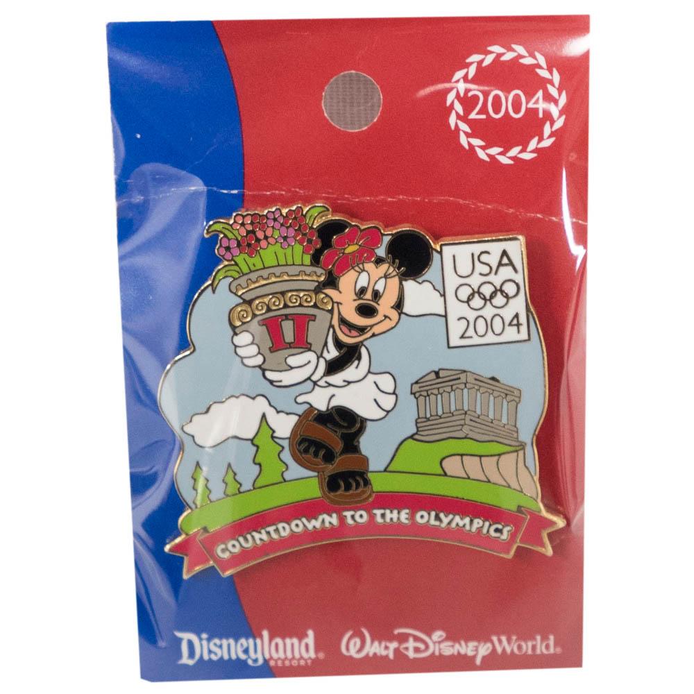 アメリカ代表 ディズニー 2004 アテネ Countdown to the Olympics Pin : 2 (Minnie Mouse) LE750 ピンバッチ ピンズ Disney
