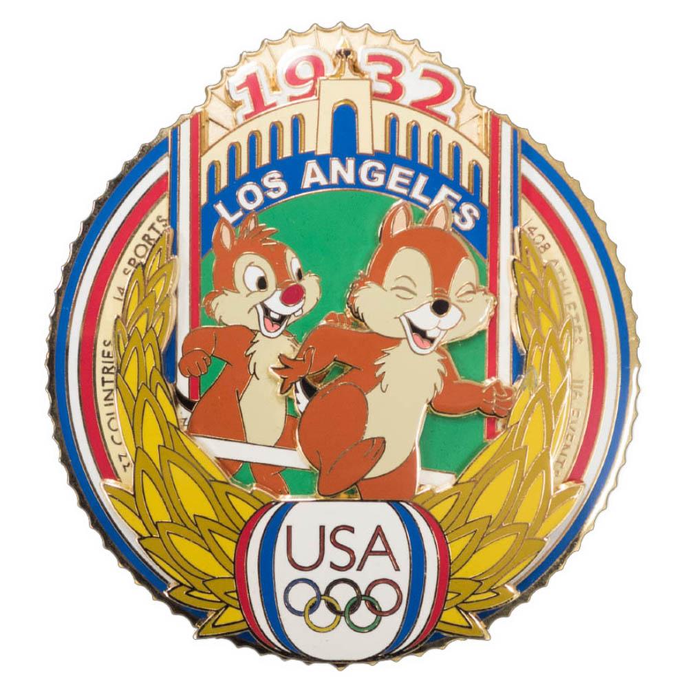 アメリカ代表 ディズニー USA Jumbo 2004 Pin LE 750 : 1932 ロサンゼルス (Mickey Mouse) ピンバッチ ピンズ Disney