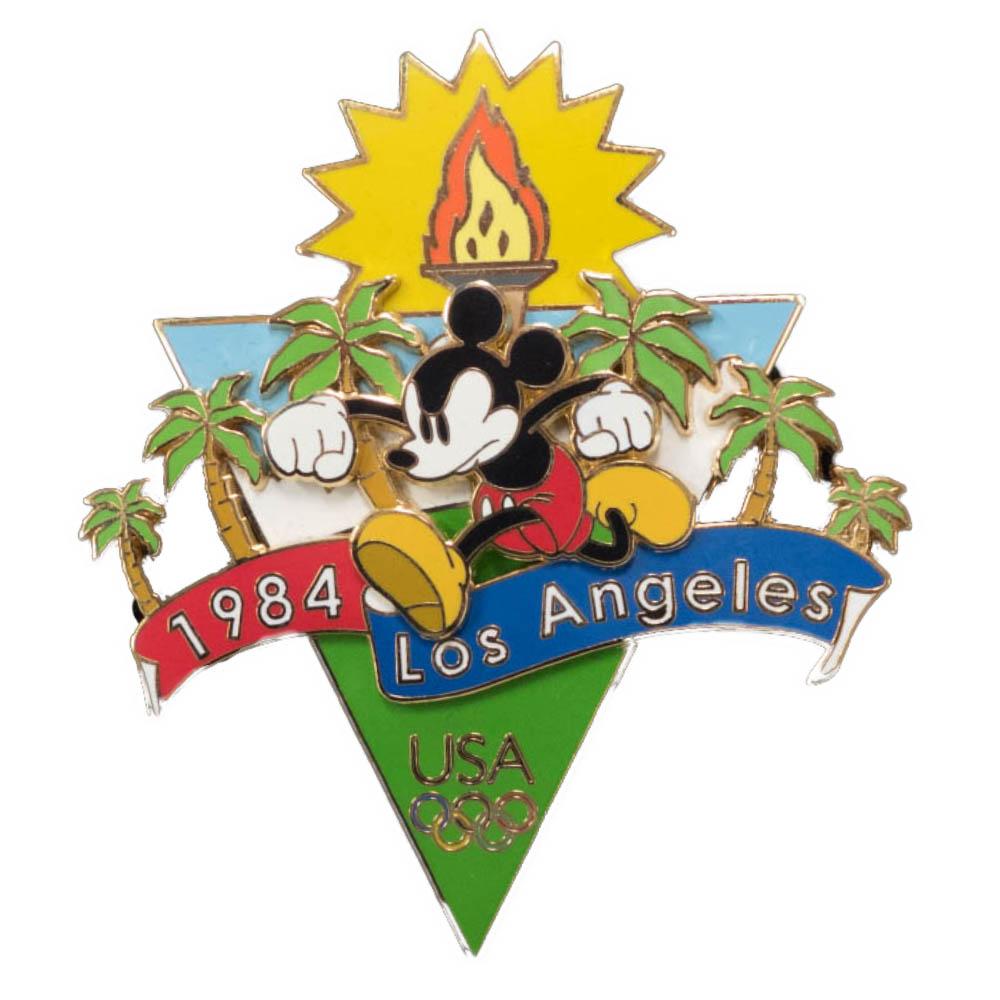 アメリカ代表 ディズニー USA Jumbo 2004 Pin LE 750 : 1984 ロサンゼルス (Mickey Mouse) ピンバッチ ピンズ Disney