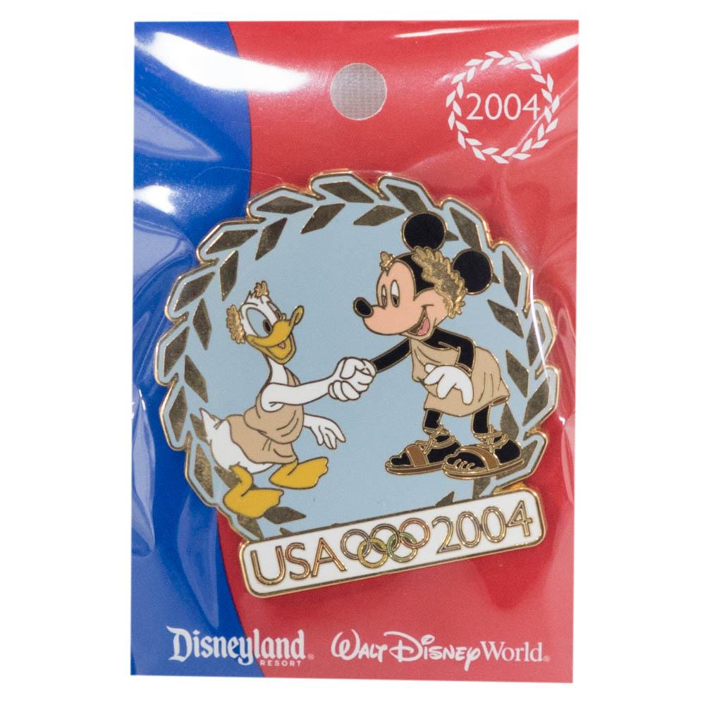 アメリカ代表 ディズニー 2004 アテネ USA Pin : Mickey Mouse Donald Duck Pin LE1000 ピンバッチ ピンズ Disney
