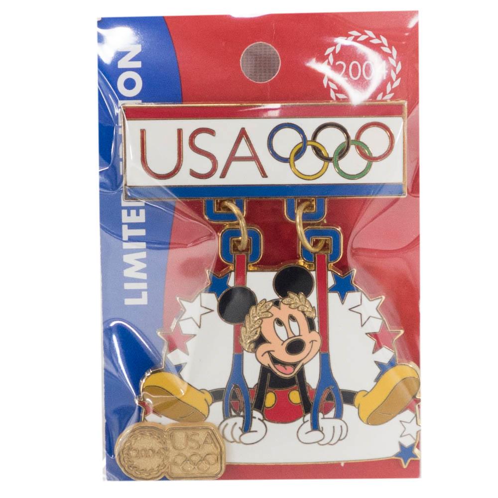 アメリカ代表 ディズニー 2004 アテネ Athens USA Pin LE2004 : Suspension Ring (Mickey) ピンバッチ ピンズ Disney