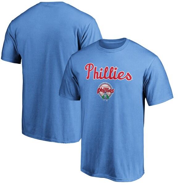 大人気のMLBクーパーズタウンコレクションTEE MLB フィラデルフィア フィリーズ 国内正規総代理店アイテム Tシャツ ライトブルー クーパーズタウン 無料 チーム コレクション